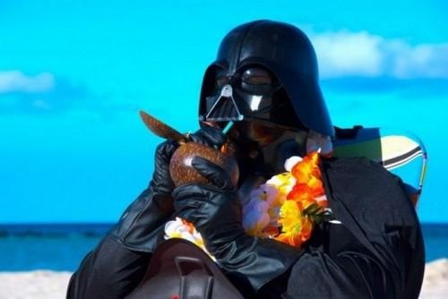 Дарт Вейдер на пляже