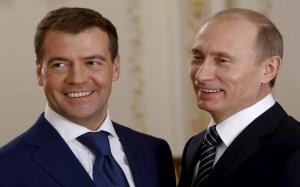 Владимир Путин и Дмитрий Медведев фото 2014