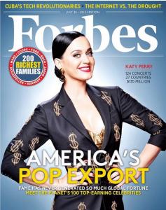 Кэти Перри на обложке Forbes