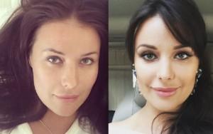 Оксана Федорова с макияжем и без