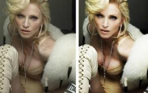 Фото Мадонны до и после обработки