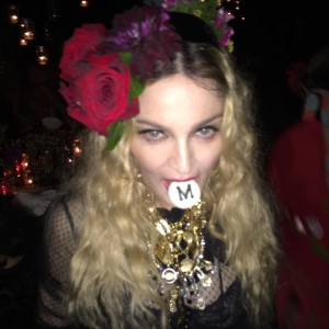 Мадонна на вечеринке по случаю её дня рождения