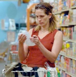 Актриса во время похода по магазинам