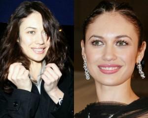 Ольга Куриленко с макияжем и без