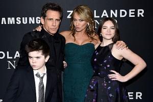 Бен Стиллер с женой и детьми. Фото