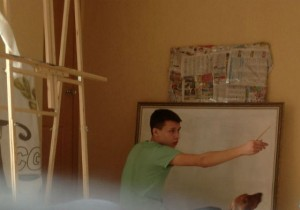 Алексей Зимин за работой
