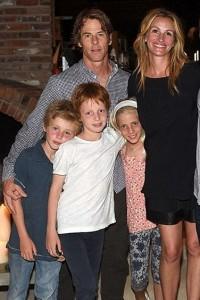 Джулия Робертс, дети. Фото