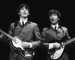 Джон Леннон и Пол Маккартни. Фото