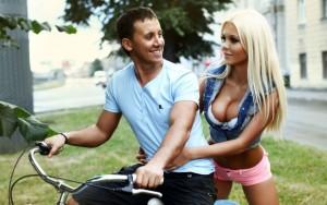 Катя Самбука с мужем. Фото