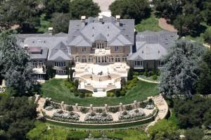 Aerial view of Oprah Winfrey's home in California