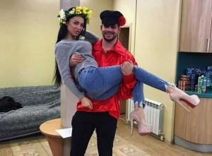 Лилия Четрару и Сергей Захарьяш. Фото