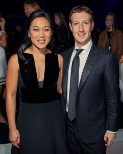 Марк Цукерберг с супругой. Фото