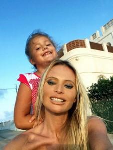 Дана Борисова с дочерью. Фото