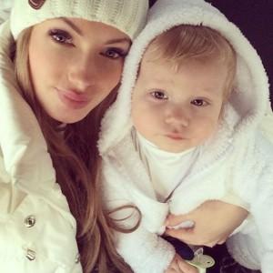 Евгения Феофилактова с сыном. Фото