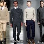 модный мужской пуловер