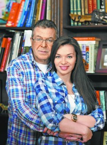 Андрей Ургант с женой. Фото