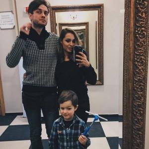 Алена Павлова с мужем и сыном. Фото