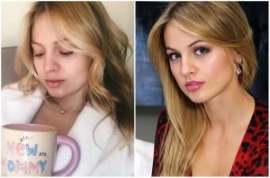 Янина Студилина без макияжа. Фото