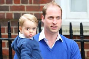 Принц Уильям и принц Джордж.Фото