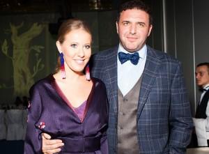 Максим Виторган и Ксения Собчак. Фото